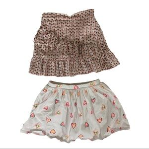 CARTER'S Lot of 2 Heart Print Skirts Size 4/5